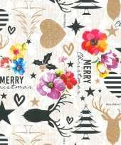 Hobby x rollen kerst inpakpapier cadeaupapier kitsch wit gekleurd meter