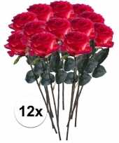 Hobby x rood gele rozen simone kunstbloemen 10107307
