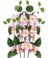 Hobby x roze clematis kunstbloemen takken