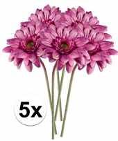 Hobby x roze gerbera kunstbloemen 10105876