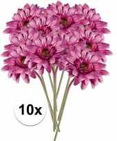 Hobby x roze gerbera kunstbloemen 10105879