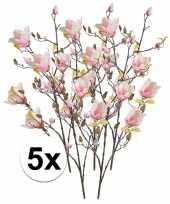 Hobby x roze magnolia kunstbloemen tak 10110118