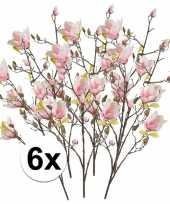 Hobby x roze magnolia kunstbloemen tak 10110119