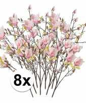 Hobby x roze magnolia kunstbloemen tak 10110120