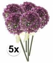 Hobby x roze paarse sierui kunstbloemen 10107351