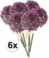 Hobby x roze paarse sierui kunstbloemen