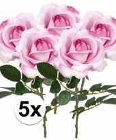 Hobby x roze rozen carol kunstbloemen 10107214