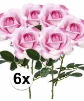 Hobby x roze rozen carol kunstbloemen 10107216