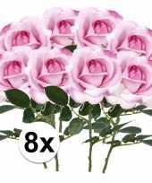 Hobby x roze rozen carol kunstbloemen 10107218