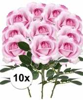 Hobby x roze rozen carol kunstbloemen 10107220