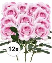 Hobby x roze rozen carol kunstbloemen 10107222