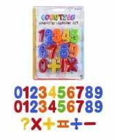 Hobby x set gekleurde magnetische cijfers stuks