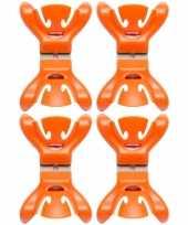 Hobby x slingers decoratie ophangen slingerklemmen oranje 10148720