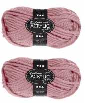 Hobby x stuks bolletjes oud roze maxi acryl garen meter 10258134