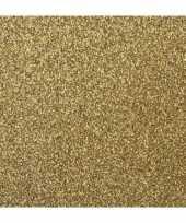 Hobby x stuks gouden glitter papier vellen 10205712