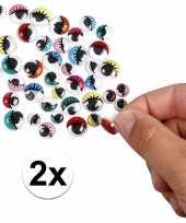 Hobby x wiebel oogjes gekleurde oogleden stuks