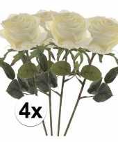 Hobby x witte rozen simone kunstbloemen 10107269