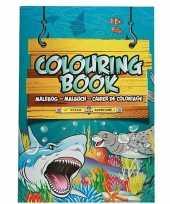 Hobby zeedieren thema a kleurboek tekenboek paginas