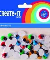 Hobby zelfklevende wiebelogen gekleurde wimper stuks