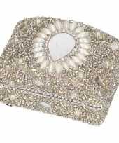 Hobby zilver bewaardoosje oriental rechthoek