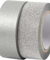 Hobby zilver glitter tape rollen