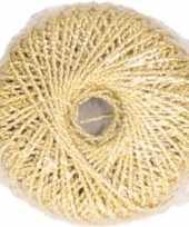 X gouden glitter touw meter hobby cadeaulint