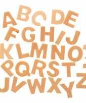 X houten alfabet letters hobby knutselmateriaal