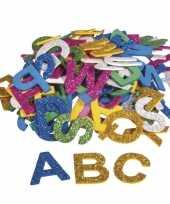 X zelfklevende hobby knutsel foam rubber letters glitters