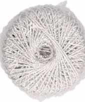 X zilveren glitter touw meter hobby cadeaulint